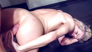 Sexy bright-haired gets her cunt fucked doggystyle