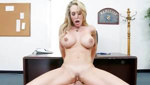 Blondie is jerking his merciless penis