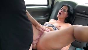 Topless bitch cruelly drilled with intense cock