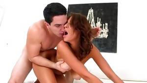 Brunette young lady spicy fucked with a penis
