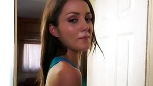 Lusty toddler wench is undressing hot her human