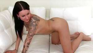 Tattooed kinky slut is riding on penis