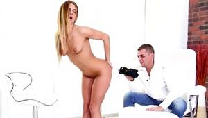 Blonde badly behaved doxy is fingering a snatch orifice