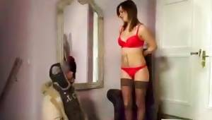 Bewitching pantyhose and underclothing whore makes out some dude