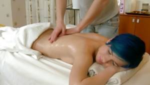 Unordinary throbbing abdl lady is getting her oily creature massaged by aroused masseur