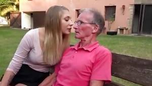 Glamour damsels lure and fuck very old guy