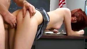 Cute duet has a gorgeous copulation in a office