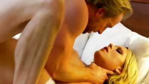Spicy blonde moaning while her muff is shoved deep
